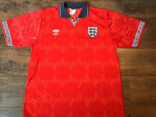 1990 1993 England Football Away Shirt Large